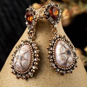 Crystal Water Drop Dangle Earrings